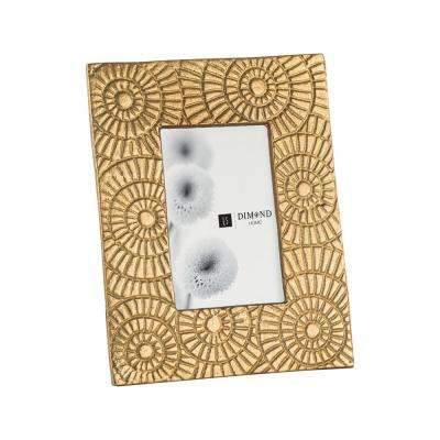 Ripple Ring 1-Opening 5 in. x 7 in. Gold Picture Frame