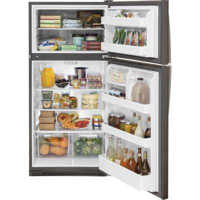 20.8 cu. ft. Top Freezer Refrigerator in Slate, Fingerprint Resistant