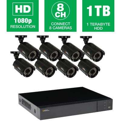 HeritageHD Series 8-Channel 1080p 1TB Video Surveillance System with 8 HD Cameras, 100 ft. Night Vision