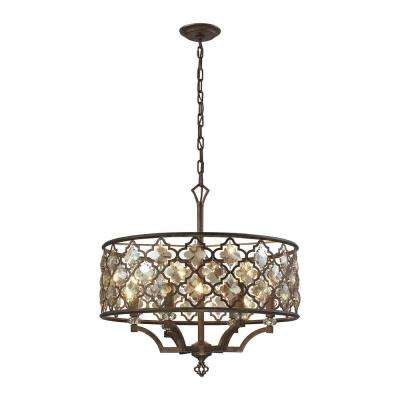 Armand 6-Light Weathered Bronze Pendant