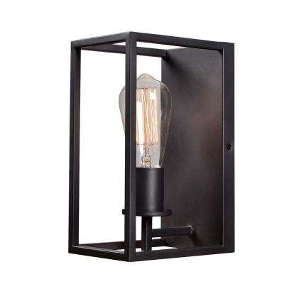 Cubed 1-Light Graphite Sconce