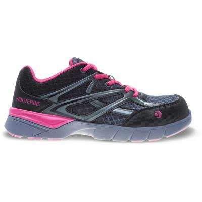 Women's Jetstream Grey Pink Mesh Composite Toe Work Shoe