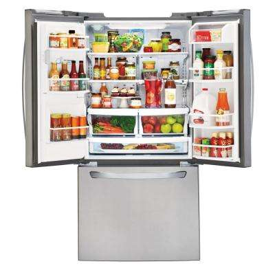 33 in. W 24.2 cu. ft. French Door Refrigerator in Stainless Steel
