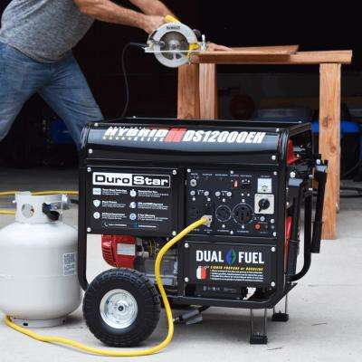 9500-Watt 18 HP Dual Fuel Hybrid Powered Electric Start Portable Generator