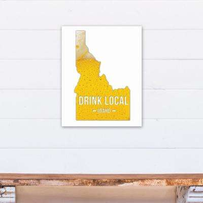 "16 in. x 20 in. ""Idaho Drink Local Beer Printed Canvas Wall Art"