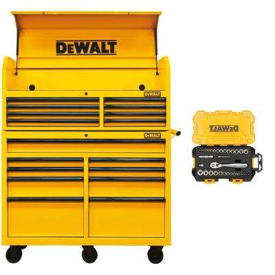 52 in. Steel Tool Chest Cabinet Combination, Yellow