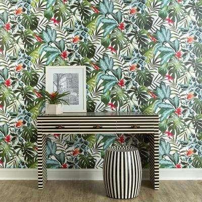 Rainforest Vinyl Peelable Wallpaper (Covers 60 sq. ft.)