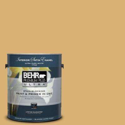 Home Decorators Collection 1-gal. #HDC-AC-08 Mustard Field Satin Enamel Interior Paint