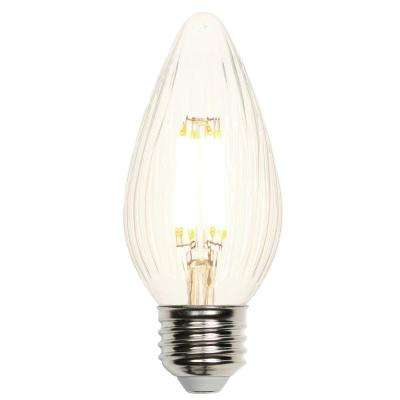40W Equivalent Clear F15 Dimmable Filament LED Light Bulb