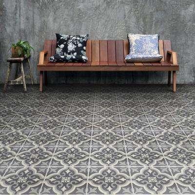 Braga Black Encaustic 7-3/4 in. x 7-3/4 in. Ceramic Floor and Wall Tile (50 cases / 555.5 sq. ft. / pallet)