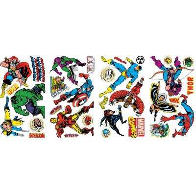 5 in. x 11.5 in. Marvel Classics Peel and Stick Wall Decals