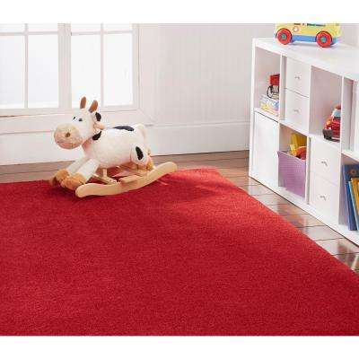 OurSpace Red 2 ft. x 6 ft. Bright Runner Rug