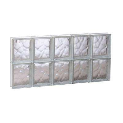 28.75 in. x 15.5 in. x 3.125 in. Non-Vented Wave Pattern Glass Block Window
