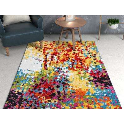 8 X 10 Multi Colored Area Rugs Rugs The Home Depot