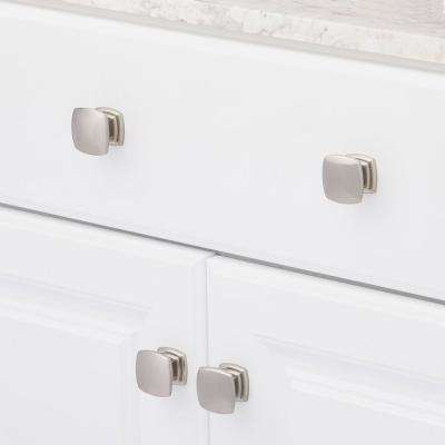 Euro-Contemporary 1-1/2 in. Satin Nickel Cabinet Knob