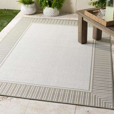 Felix Taupe 2 ft. 3 in. x 4 ft. 6 in. Solid Indoor/Outdoor Area Rug