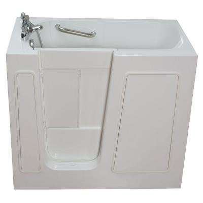 Small 3.75 ft. x 26 in. Walk-In Bathtub in White with Left Drain/Door