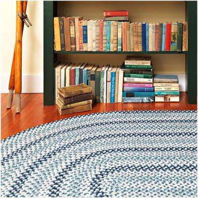 Winthrop Cream 7 ft. x 9 ft. Oval Braided Area Rug