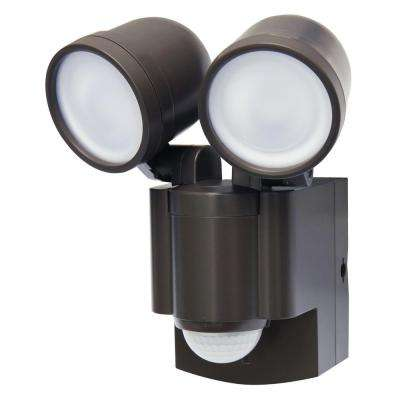 Bronze Battery Operated Motion Sensor Twin LED Light