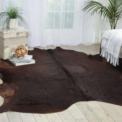 Free Shape Hide Dark Brown 5 ft. x 7 ft. Area Rug