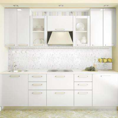 Carrara Constellation White Honeycomb 10.75 in. x 11.375 in. x 8 mm Marble Mosaic Floor and Wall Tile