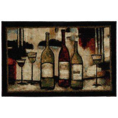 Wine and Glasses 2 ft. 6 in. x 3 ft. 10 in. Kitchen Rug