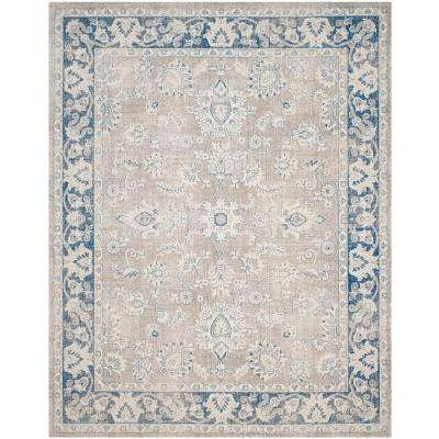Patina Taupe/Blue 9 ft. x 12 ft. Area Rug
