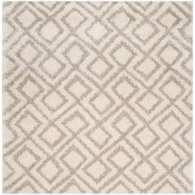 Arizona Shag Ivory/Beige 6 ft. 7 in. x 6 ft. 7 in. Square Area Rug