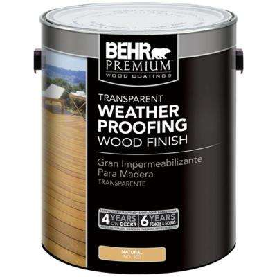 1 gal. #500 Natural Transparent Weatherproofing Wood Finish