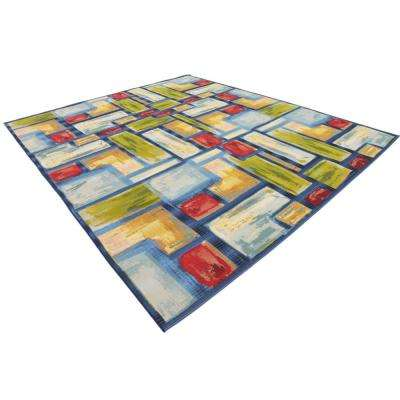 Outdoor Cubed Multi 10' 0 x 12' 0 Area Rug