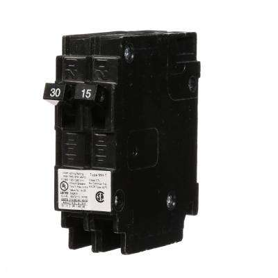 30/15 Amp Single Pole Tandem Type MH-T Plug-In Circuit Breaker