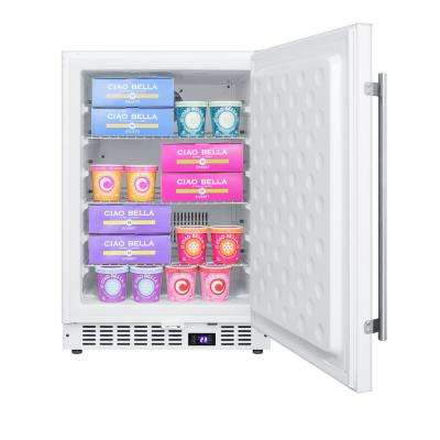 4.7 cu. ft. Frost Free Upright Freezer In White