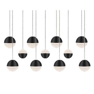 Jessa 1-Light 60-Watt Equivalence Black Integrated LED Pendant
