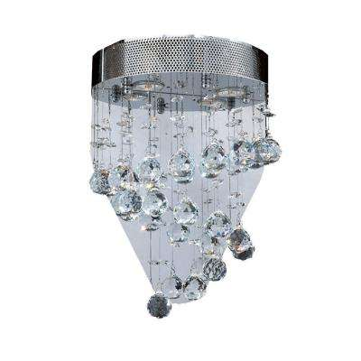Helix Collection 2-Light Chrome Crystal Wall Sconce