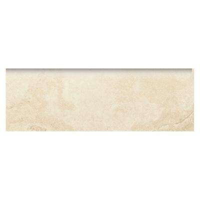 Developed by Nature Rapolano 2 in. x 6 in. Glazed Ceramic Wall Bullnose Tile