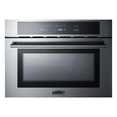 24 in. Single Electric Wall Oven with Speed Cook and Convection in Stainless Steel