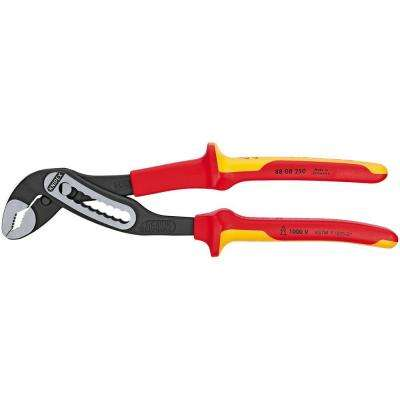 Heavy Duty Forged Steel 10 in. Alligator Pliers with 61 HRC Teeth and 1,000-Volt Insulation