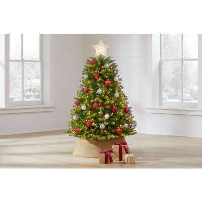 4.5 ft Dunhill Fir LED Pre-Lit Artificial Christmas Tree with 450 White Mini Lights