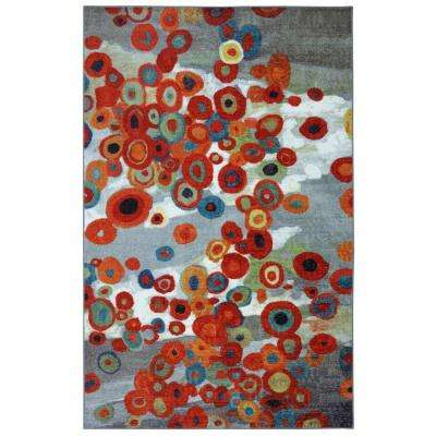 Tossed Floral Multi 5 ft. x 8 ft. Area Rug