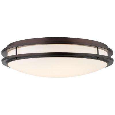 Cambridge 36-Watt 2-Light Merlot Bronze CFLni 4-Pin 2G11 Base Ceiling Fixture