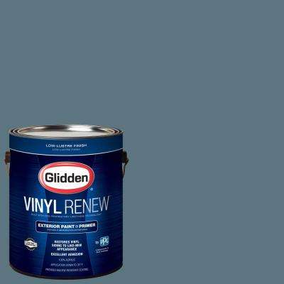 1 gal. #HDGB52 Village Blue Low-Lustre Exterior Paint with Primer