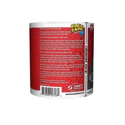 Flex Tape White 4 in. x 5 ft. Strong Rubberized Waterproof Tape (4-Piece)
