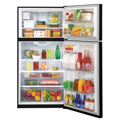 24 cu. ft. Top Freezer Refrigerator in Smooth Black