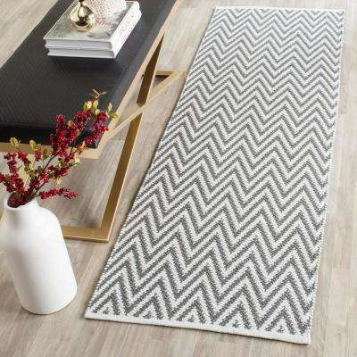 Montauk Gray/Ivory 2 ft. x 11 ft. Runner Rug