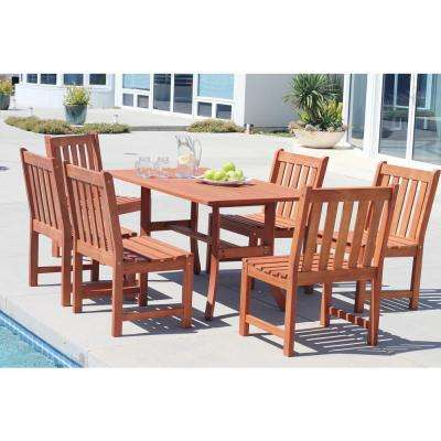 Malibu Hardwood 7-Piece Rectangle Patio Dining Set