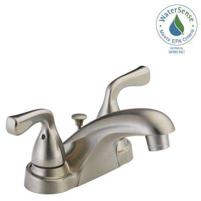 Foundations 4 in. Centerset 2-Handle Bathroom Faucet in Brushed Nickel