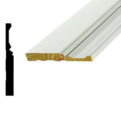 WP 20 11/16 in. x 6 in. x 96 in. Primed Finger-Jointed Pine Base Moulding