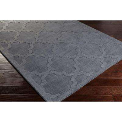 Central Park Abbey Charcoal 2 ft. x 14 ft. Indoor Runner Rug