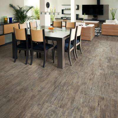 Brushed Chocolate 16 in. x 32 in. Luxury Vinyl Plank Flooring (24.89 sq. ft. / case)