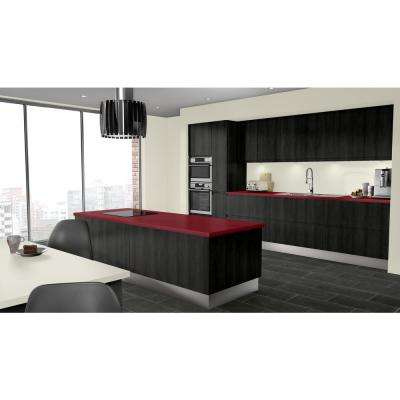 2 in. x 3 in. Laminate Countertop Sample in Port with Standard Matte Finish